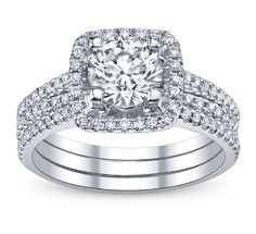 Engagement Ring And Wedding Ring Set