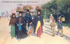 Figueira da Foz - Peixeiras de volta do mercado, ed. Adelino Alves Pereira, 1910.