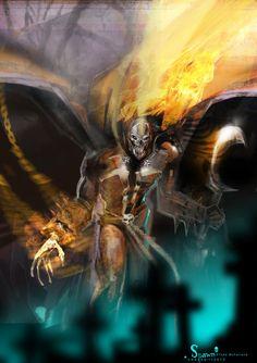 Spawn by uwedewitt on deviantART Spawn Comics, Marvel Comics Art, Anime Comics, Spawn Characters, Comic Book Heroes, Comic Books, Valiant Comics, Predator Alien, Deal With The Devil