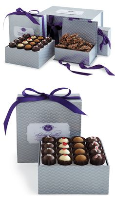 My husband loves this choc. company - Vosges Haut-Chocolat Packaging by Knoed Chocolate Delight, Chocolate Sweets, I Love Chocolate, Chocolate Peanuts, Chocolate Truffles, Chocolate Lovers, Chocolates, Truffle Boxes, Bonbon