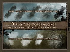 Paint Texture - Download  Photoshop brush https://www.123freebrushes.com/paint-texture-2/ , Published in #GrungeSplatter. More Free Grunge & Splatter Brushes, http://www.123freebrushes.com/free-brushes/grunge-splatter/ | #123freebrushes