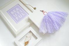 "Lady in Lavender"" and  ""Beautiful"" Print - hand painted canvas, nursery, nursery artwork, baby shower, nursery decor, baby room, girls room #shenasiconcept #kardzkouture"