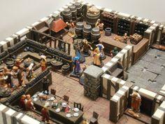 Endar, Dwarven Forge, le donjon en 3D