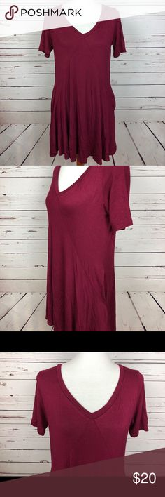 Silence And Noise Burgundy Dress With Pockets Silence And Noise Burgundy Dress With Pockets // Sz Medium silence + noise Dresses
