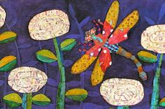 debortina_dragonfly polymer painting