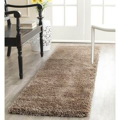 Safavieh Harlow Power Loomed Milan Shag Area Rug or Runner, Beige