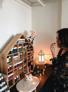 My Winter Wellness Station - Essential Oils Storage - The Inspired Room