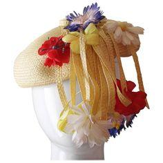 869df3a827b Vintage Yves Saint Laurent Floral Beret  hat