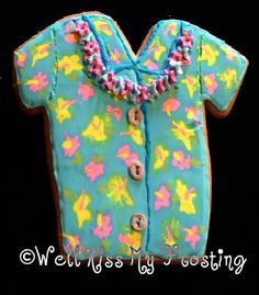 Hawaiian Shirt with Lei Cookie by well kiss my frosting, via Flickr