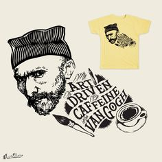 Caffein Van Gogh on Threadless Caffeine, Van Gogh, People, Shirts, Art, Art Background, Kunst, Performing Arts, Dress Shirts