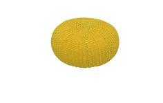 Pufe Tricot Amarelo - Sala - Móveis e objetos de design assinado - Entrega em todo o Brasil
