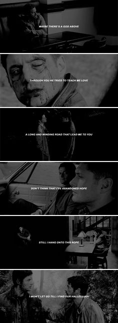 maybe there's a god above through you he tried to teach me love a long and winding road that led me to you #spn #destiel