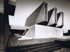 "germanpostwarmodern:  Church and Community Center ""De Ark"" (1967) in Schaesberg, the Netherlands, by Peter Sigmond"