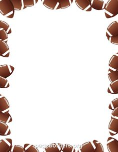 Free footballs border templates including printable border paper and clip art versions. File formats include GIF, JPG, PDF, and PNG. Vector images are also available. Football Clip Art, Free Football, Football Tailgate, Football Themes, Football Stuff, Borders For Paper, Borders And Frames, Page Borders Free, Football Background