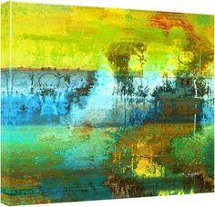 """Quadro Abstrato """"Passagem Azul"""" de Carlos Alber — Reprodução em alta definição (gicleé) com pigmento mineral sobre canvas premium e acabamento texturizado."""