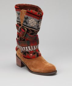 e3e12b9e76f Look at this Adobe Mud Nicole Boot on  zulily today! Boho Boots