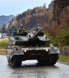 Type 10 - Japan Self-Defense Forces Battle Tank, Panzer, Battleship, Self Defense, Warfare, Military Vehicles, Wwii, Weapons, Type