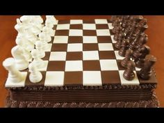 Classic Chess Cake | This is the coolest game cake. It looks just like a chessboard. We love it!