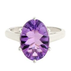 Amethyst 4.25 Carat Gemstone Ring in 925 Sterling Silver