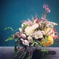 summer bouquet of local flowers by pyrus