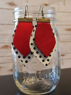 Hey, I found this really awesome Etsy listing at https://www.etsy.com/listing/501495023/metallic-red-and-blackwhite-polka-dot