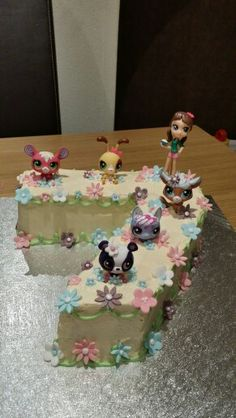 Daughters littlest pet shop birthday cake x
