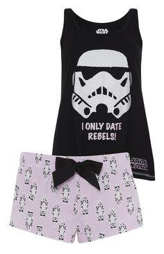DISNEY STAR WARS Ladies Pyjamas Leggings T Shirt Shorts Primark UK 6-20 | eBay