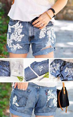 Diy denim shorts #1