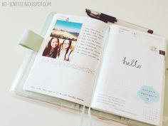 I love this idea. A journal for daily doodles, pictures, ect. It's almost like scrapbooking as you go.