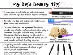 Beauty tips from the fashion nazi