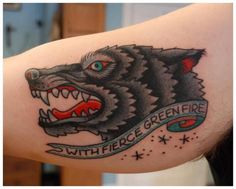 Another wolf tattoo... by Minneapolis Tattooer Jason Walstrom