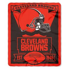 Cleveland Browns NFL Light Weight Fleece Blanket (Marque Series) (50inx60in)