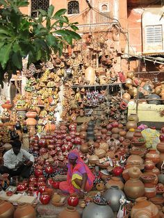 at the market , India