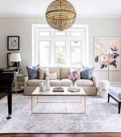 Eclectic furniture mix / large painting