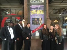 FTC a cappella members taking time to enjoy the moment before they go into Carnegie Hall for their big performance!