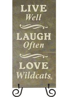 K- State Wildcats Live Laugh Love Trivet