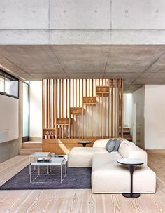 Comfortable Contemporary Living Room Interior Design Ideas - Page 13 of 30 - Cabinet D Architecture, Residential Architecture, Interior Architecture, Interior Staircase, Australian Architecture, Wooden Staircase Design, Wooden Staircases, Living Room Interior, Interior Design Living Room