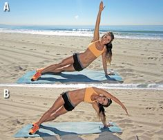 Pumped-Up Planks: Check out the steps you need to try the 'Rainbow Side Plank' here! #SelfMagazine