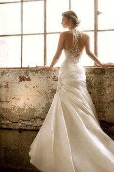 Wedding Dress Photos - Find the perfect wedding dress pictures and wedding gown photos at WeddingWire. Browse through thousands of photos of wedding dresses. Essence Wedding Dresses, Wedding Dress 2013, Backless Wedding, Elegant Wedding Dress, Wedding Attire, Backless Gown, Casual Wedding, Bridal Gowns, Wedding Gowns