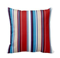 Sailor Stripe Geometric Outdoor Zippered by PrimalVogueHomeDecor