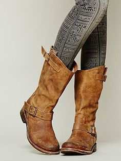 Looking for something a smidge shorter? These distressed boots are slouchy enough to scandalize your proper English grandmother, but you can still ride with the best of them.Free People Prescott Mid Boot, $288,freepeople.com