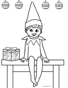 Elf Coloring Pages Christmas Coloring Sheets Cute Coloring