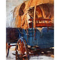 Blue Covered Wagon
