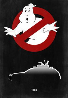 Ecto-2K Racing Poster -Black- by Boomerjinks