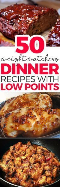 50 Weight Watchers Dinner Recipes with Low Points(Low Carb Meatloaf Healthy Dinners) Plats Weight Watchers, Weight Watchers Diet, Weight Watcher Dinners, Weigh Watchers, Weight Watchers Meatloaf, Weight Watchers Chicken, Ww Recipes, Light Recipes, Dinner Recipes