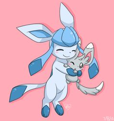 Glaceon and Minccino by Bluekiss131 on deviantART