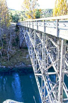 Bridge on the road to Wanaka, Central Otago, NEw Zealand