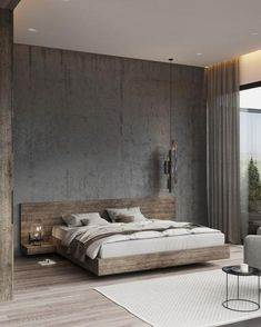 Minimal Interior Design Inspiration - Home Decor Design Modern Master Bedroom, Stylish Bedroom, Modern Bedroom Design, Master Bedroom Design, Minimalist Bedroom, Contemporary Bedroom, Modern Room, Modern Contemporary, Bedroom Lamps Design