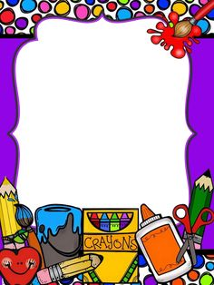 Page Borders, Borders And Frames, Rose Frame, Flower Frame, School Frame, School Images, Classroom Rules, Binder Covers, School Gifts
