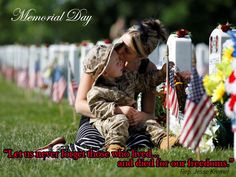 This day is not about our friends and family, it is not about parties, it isn't for politicians to walk in parades, it isn't even about those who have served - it is about those who laid down their lives in defense of this nation and everything that we hold dear.  Never forget!  Jesse
